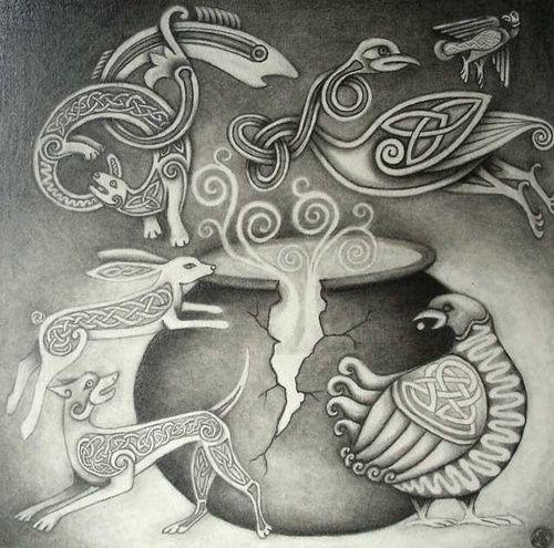 Wicca, παγανισμός, Κέλτικη μυθολογία,  Η ιστορία της Ceridwen, Taliesin, μαγεία